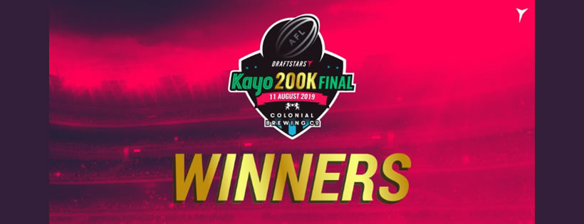 Draftstars Kayo $200,000 Live Final ticket winners from AFL Round 18