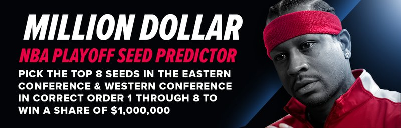 Win a Share of $1M for Free with PointsBet NBA Playoff Seed Predictor!